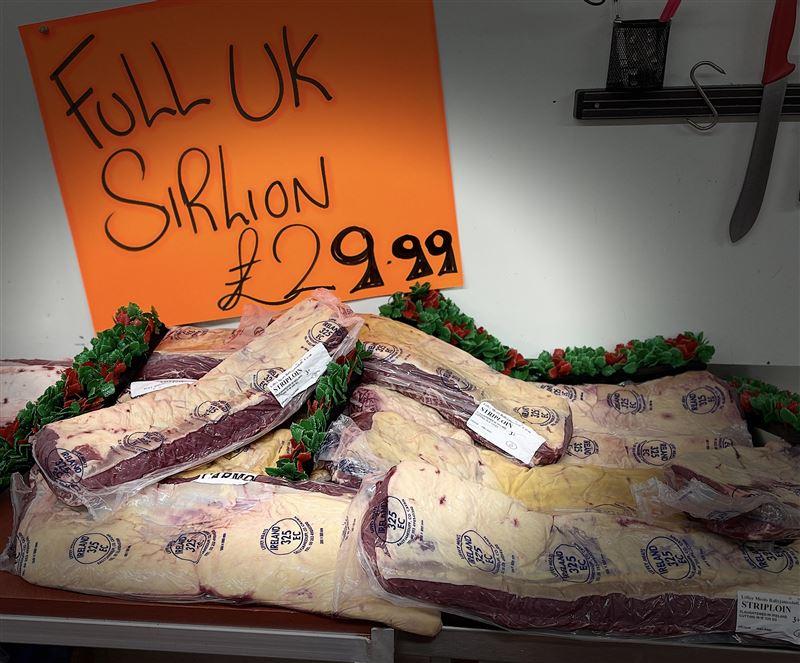 FULL UK SIRLOIN 3-4K weight